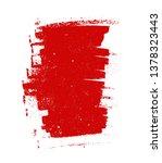 grunge red brush stroke | Shutterstock .eps vector #1378323443