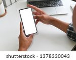 cropped shot top view of...   Shutterstock . vector #1378330043