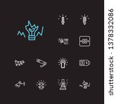 bright icons set. match and... | Shutterstock .eps vector #1378332086