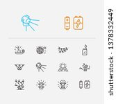 light icons set. sunlight and...