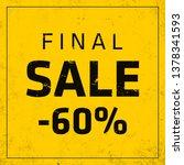 sale banner template design ... | Shutterstock .eps vector #1378341593