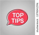 top tips. vector icon  badge... | Shutterstock .eps vector #1378341596