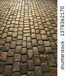 cobblestone pavement cobbled...   Shutterstock . vector #1378362170