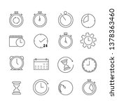 clock icon set | Shutterstock .eps vector #1378363460