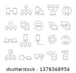 connection network icon set | Shutterstock .eps vector #1378368956