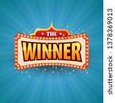 the winner retro banner with... | Shutterstock .eps vector #1378369013