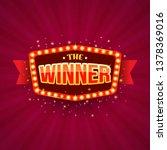 the winner retro banner with... | Shutterstock .eps vector #1378369016