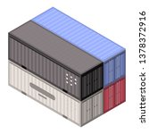 stack port container icon.... | Shutterstock .eps vector #1378372916