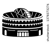 large indoor arena icon. simple ...   Shutterstock .eps vector #1378373276