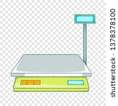 bench scales icon. cartoon... | Shutterstock .eps vector #1378378100
