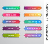 vector button set modern trendy ... | Shutterstock .eps vector #1378380899