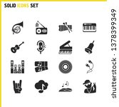 melody icons set with sound... | Shutterstock .eps vector #1378399349