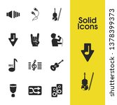 melody icons set with hand...