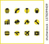 service icons set with movie ...