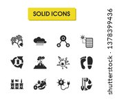 ecology icons set with coral...