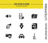 melody icons set with album ...
