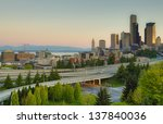 skyline of seattle washington | Shutterstock . vector #137840036