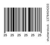 bar code isolated on... | Shutterstock .eps vector #1378404203