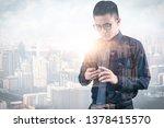 the double exposure image of... | Shutterstock . vector #1378415570