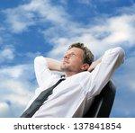 portrait of a mature business... | Shutterstock . vector #137841854