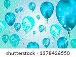 elegant blue flying helium... | Shutterstock .eps vector #1378426550