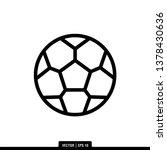 soccer ball icon vector... | Shutterstock .eps vector #1378430636