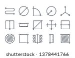 measure related line icon set.... | Shutterstock .eps vector #1378441766