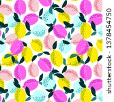 hand draw seamless pattern of... | Shutterstock .eps vector #1378454750