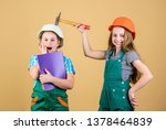 children sisters renovation... | Shutterstock . vector #1378464839