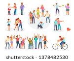 big set of teenagers in... | Shutterstock . vector #1378482530