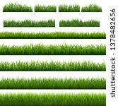 big set green grass borders... | Shutterstock .eps vector #1378482656