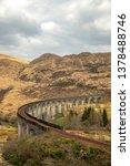 glenfinnan viaduct in scotland.   Shutterstock . vector #1378488746