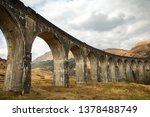 glenfinnan viaduct in scotland.   Shutterstock . vector #1378488749