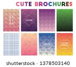cute brochures. adorable... | Shutterstock .eps vector #1378503140