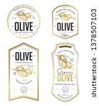 olive oil badge label design... | Shutterstock .eps vector #1378507103