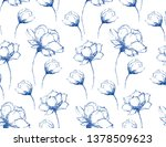 seamless pattern with hand... | Shutterstock .eps vector #1378509623