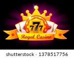 casino royal banner with ribbon ...