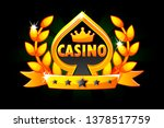 casino and playing card symbol. ...