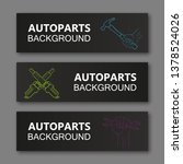 auto parts banner. modern...   Shutterstock .eps vector #1378524026