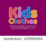 vector denim emblem kids... | Shutterstock .eps vector #1378524443
