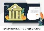 online banking finance landing... | Shutterstock .eps vector #1378527293