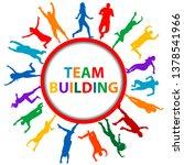 team building concept with men... | Shutterstock . vector #1378541966