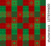 christmas background with... | Shutterstock . vector #1378544600