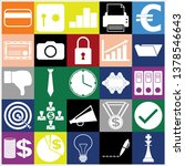set of 25 business high quality ... | Shutterstock .eps vector #1378546643