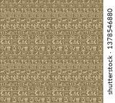 ancient egyptian hieroglyphs... | Shutterstock . vector #1378546880