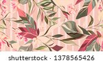 botanic seamless pattern with... | Shutterstock .eps vector #1378565426