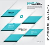infographics design  annual... | Shutterstock .eps vector #137856749