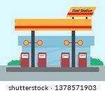 fuel station illustration   Shutterstock .eps vector #1378571903