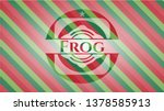 Frog Christmas Colors Style...