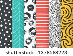 abstract hand drawn doodle... | Shutterstock .eps vector #1378588223
